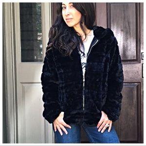 Jackets & Blazers - PARIS Faux fur hooded jacket